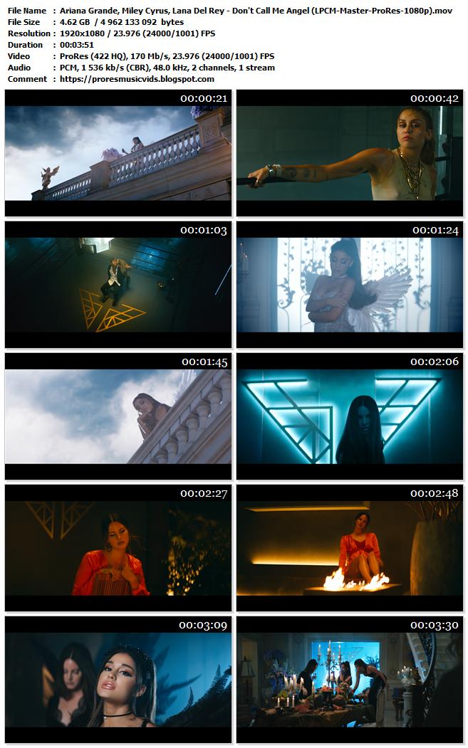 Ariana Grande, Miley Cyrus, Lana Del Rey – Don't Call Me Angel