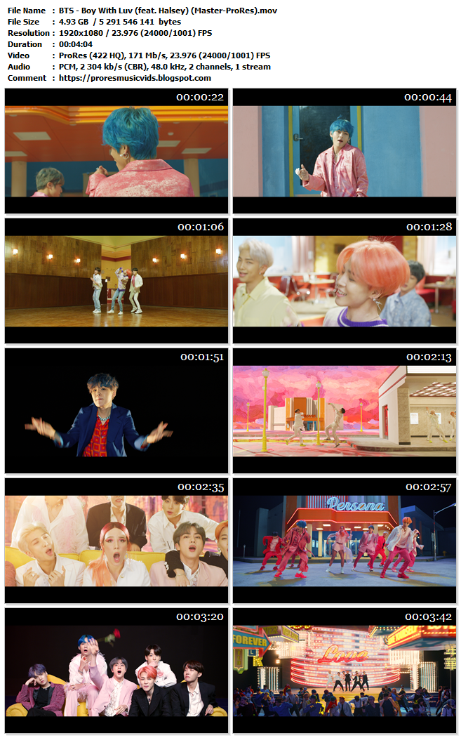 BTS – Boy With Luv (feat. Halsey)