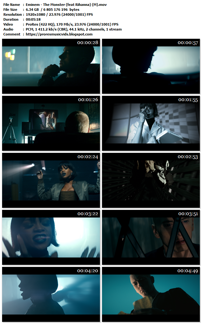 Eminem – The Monster (feat Rihanna)