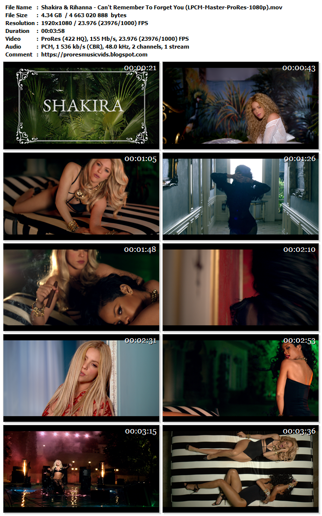Shakira & Rihanna – Can't Remember To Forget You