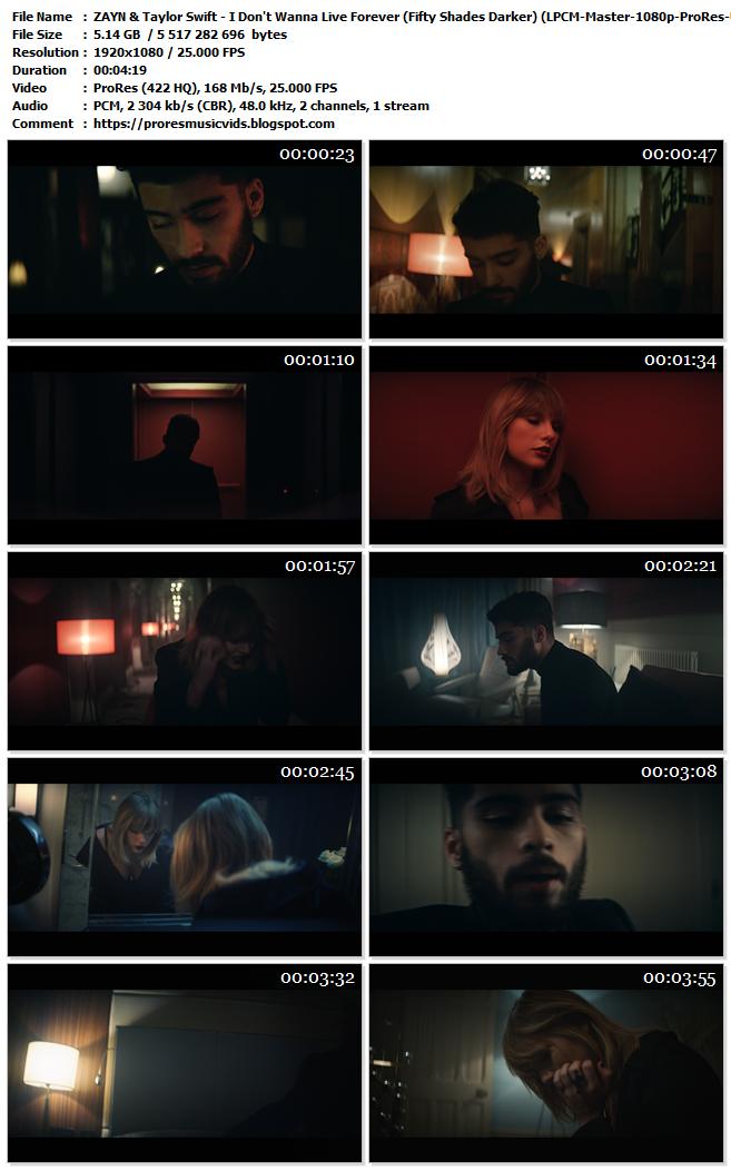 Zayn & Taylor Swift – I Don't Wanna Live Forever (Fifty Shades Darker)
