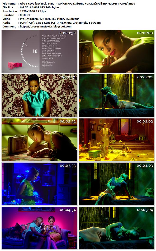 Alicia Keys  – Girl On Fire feat. Nicki Minaj (Inferno Version)