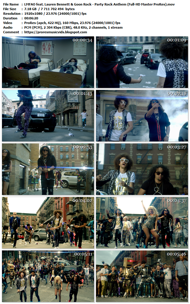 LMFAO feat. Lauren Bennett & Goon Rock – Party Rock Anthem