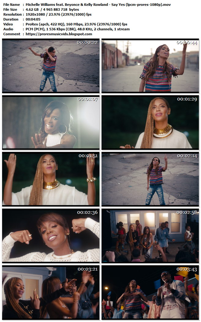 Michelle Williams feat. Beyonce & Kelly Rowland – Say Yes