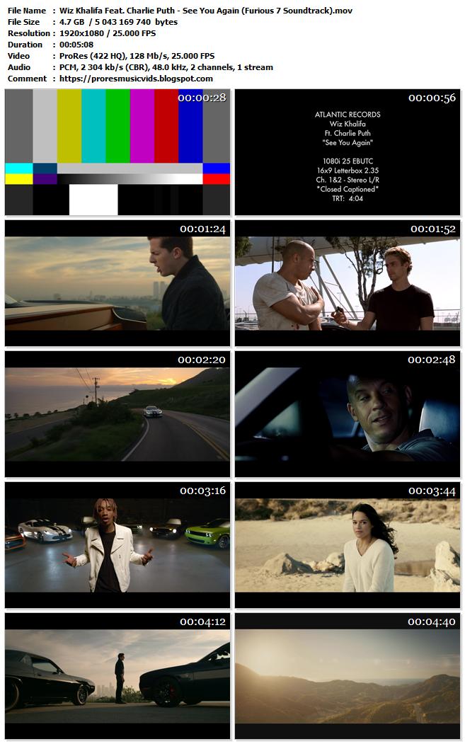 Wiz Khalifa Feat. Charlie Puth – See You Again