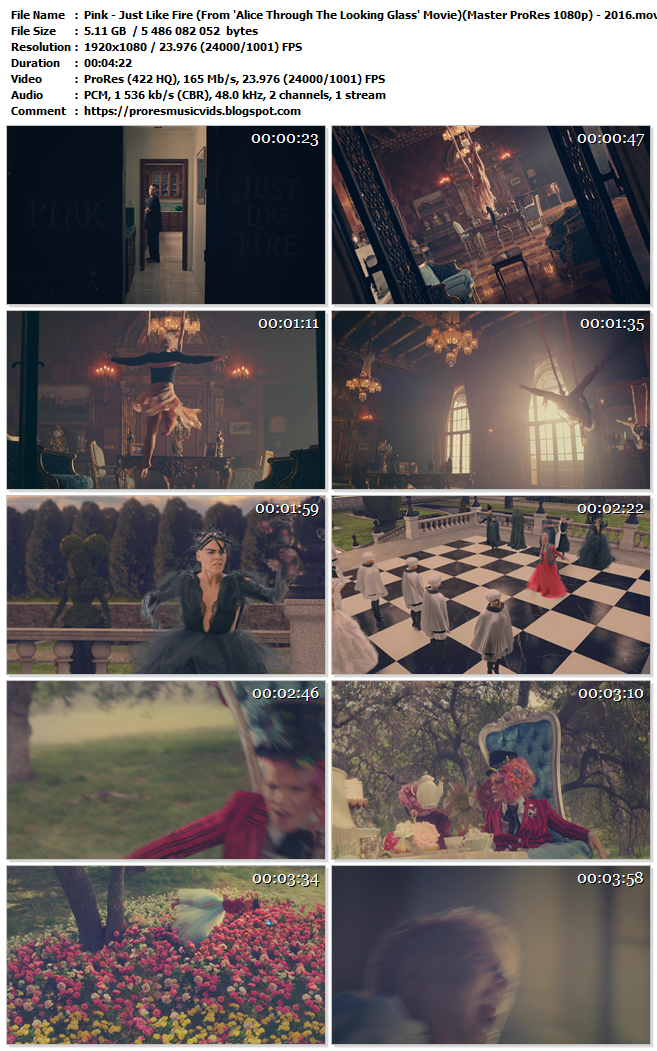 Pink – Just Like Fire (From 'Alice Through The Looking Glass' Movie)