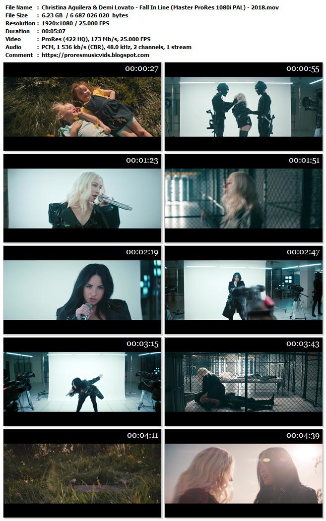 Christina Aguilera & Demi Lovato – Fall In Line