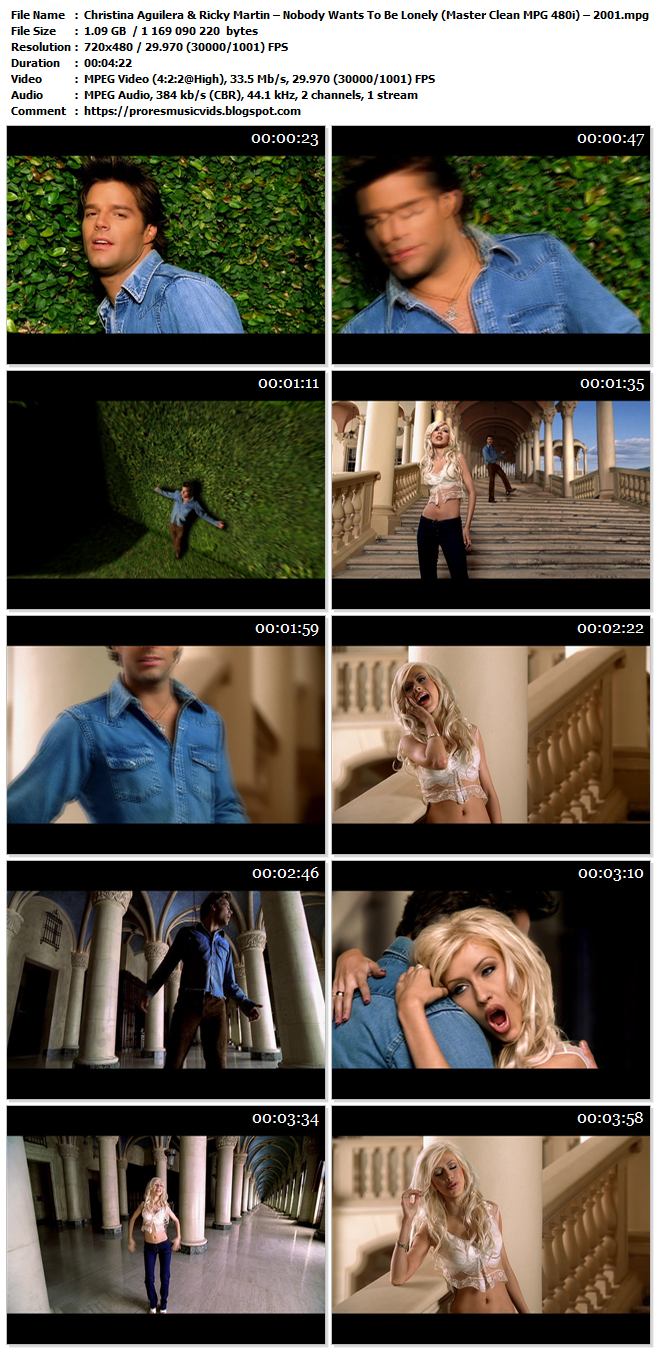 Christina Aguilera & Ricky Martin – Nobody Wants To Be Lonely