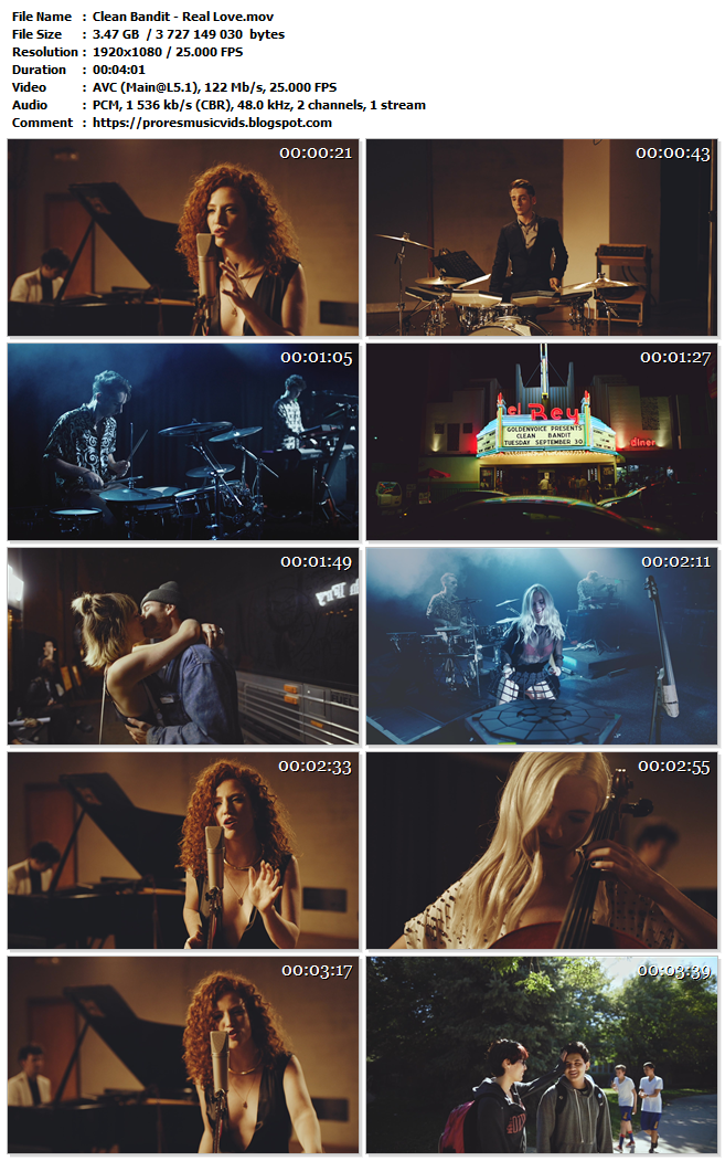 Clean Bandit, Jess Glynne – Real Love (Master Clean AVC 1080p)