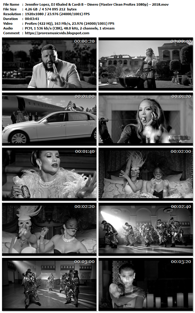 Jennifer Lopez, DJ Khaled & Cardi B – Dinero