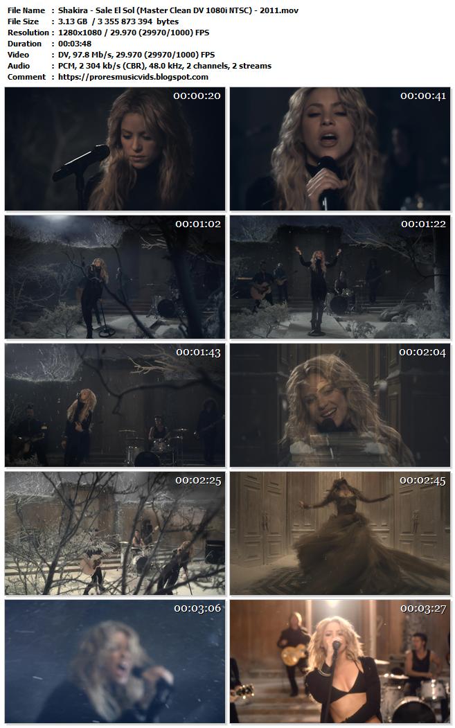 Shakira – Sale El Sol (Master Clean DV 1080i NTSC)