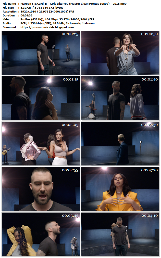 Maroon 5 & Cardi B – Girls Like You
