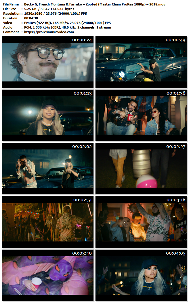Becky G, French Montana & Farruko – Zooted – 2018
