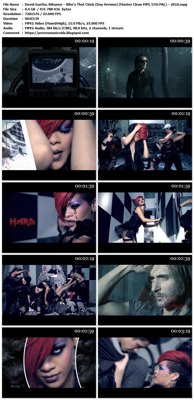 David Guetta, Rihanna – Who's That Chick (Night Version)