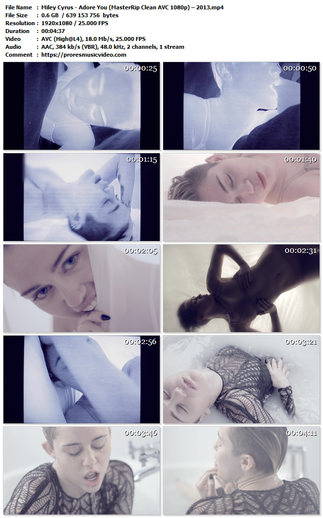 Miley Cyrus – Adore You – AVC Master