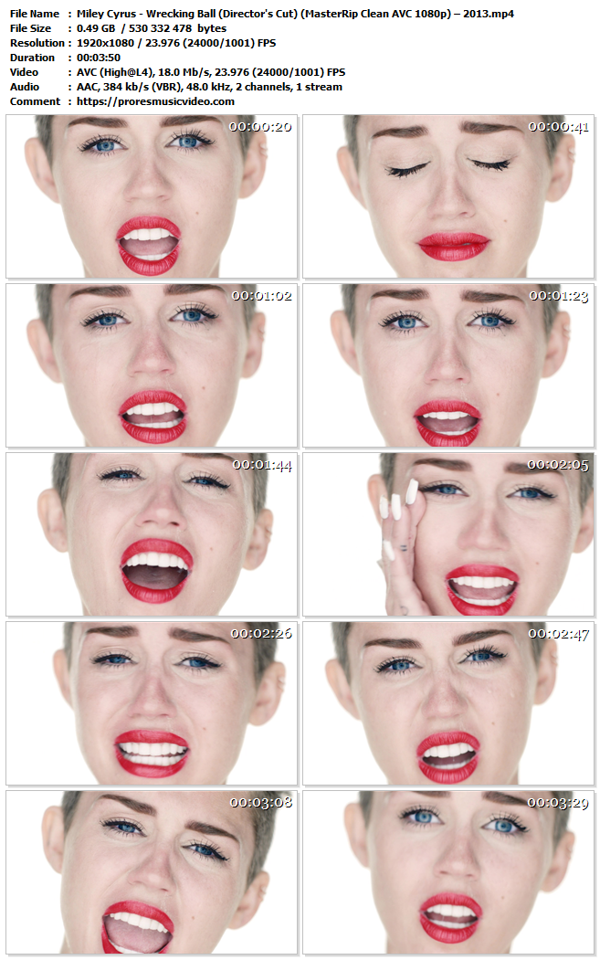 Miley Cyrus – Wrecking Ball (Director's Cut) – AVC Master