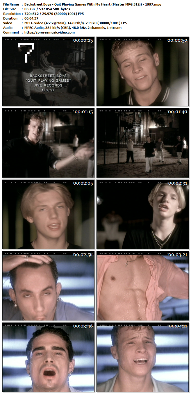 Backstreet Boys – Quit Playing Games With My Heart