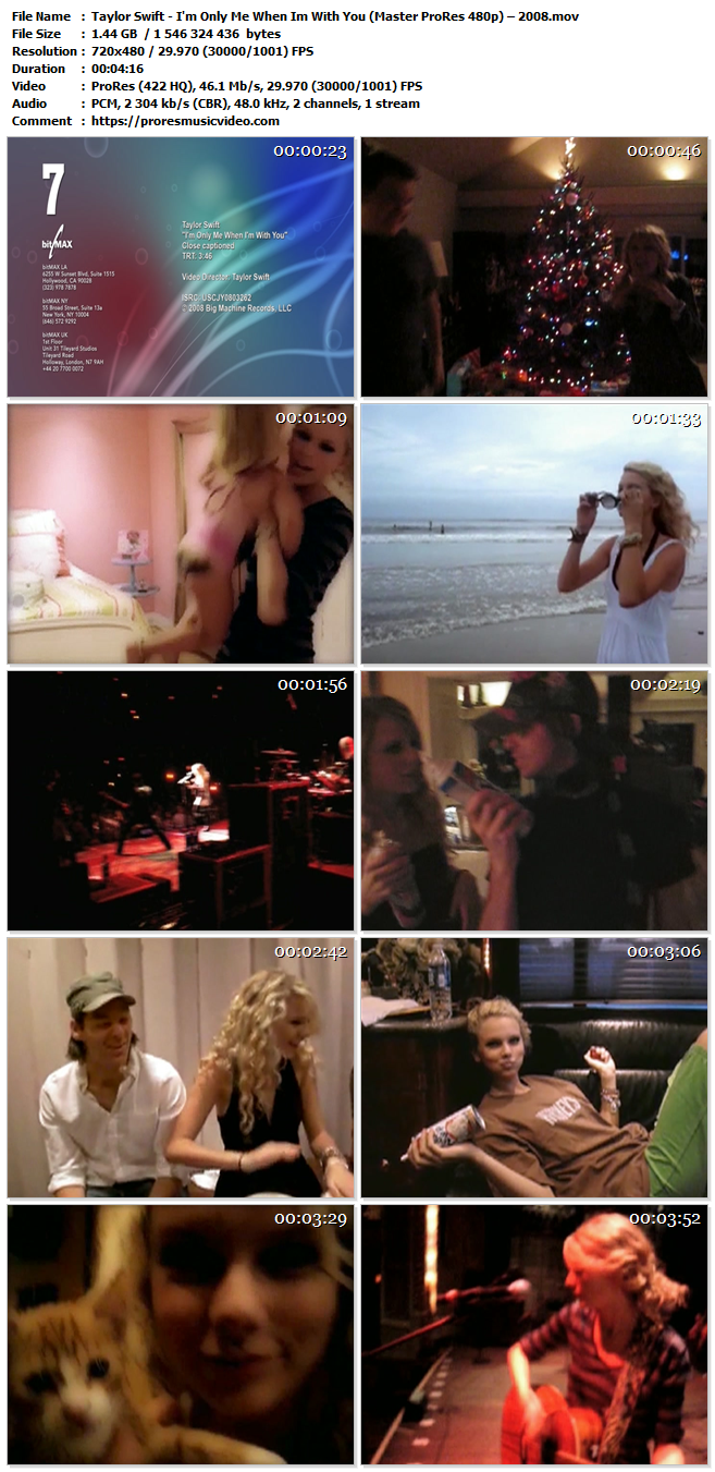 Taylor Swift – I'm Only Me When Im With You