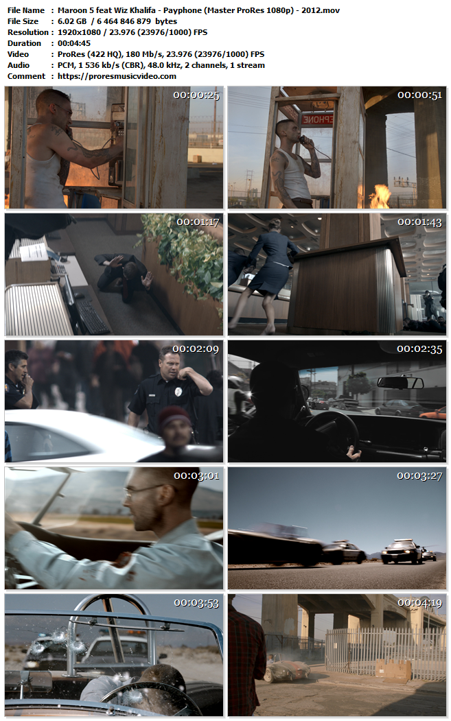 Maroon 5 feat Wiz Khalifa – Payphone
