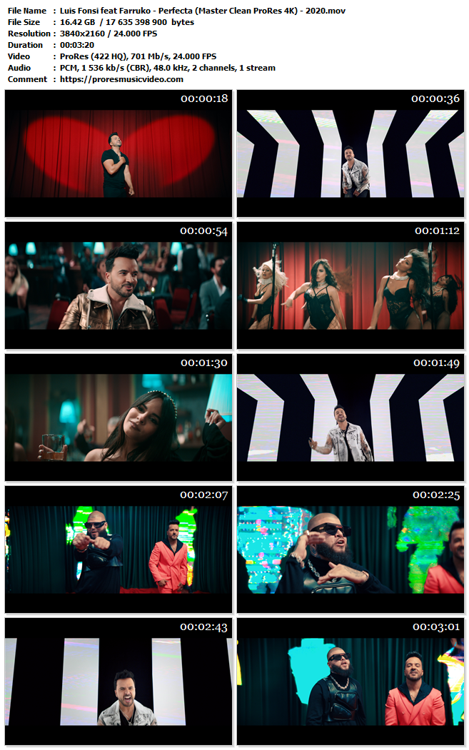 Luis Fonsi feat Farruko – Perfecta (4K)