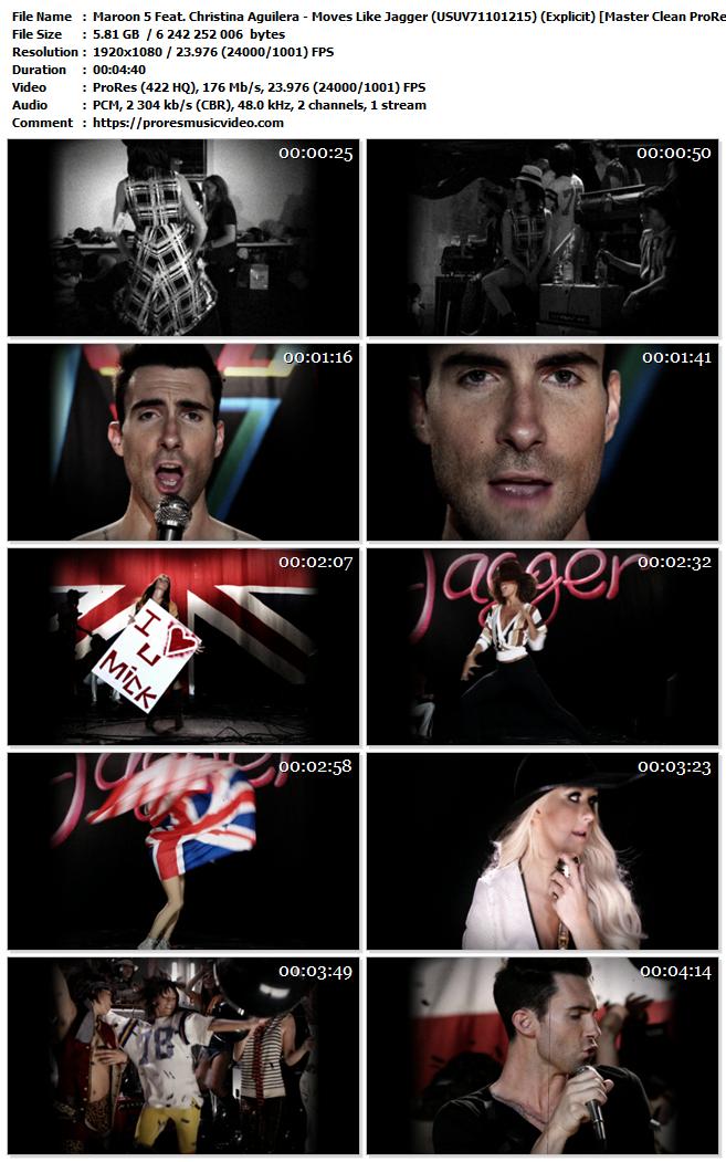 Maroon 5 Feat. Christina Aguilera – Moves Like Jagger (Explicit) (VIP)