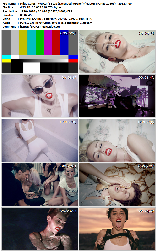 Miley Cyrus – We Can't Stop (Extended Version)