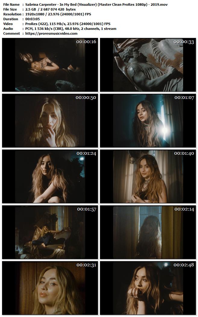 Sabrina Carpenter – In My Bed (Visualizer)