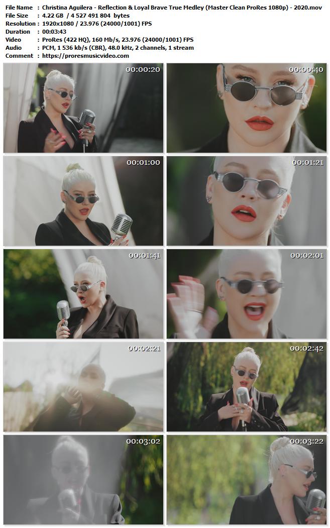 Christina Aguilera – Reflection & Loyal Brave True Medley